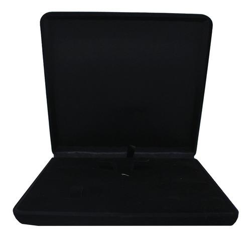 Caixa De Veludo Para Colar - G 16,5 X 16,5 Cm