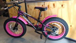 Bicicleta Sbk Fat Bike R20 Niño/niña 7/vel Mv Urbano
