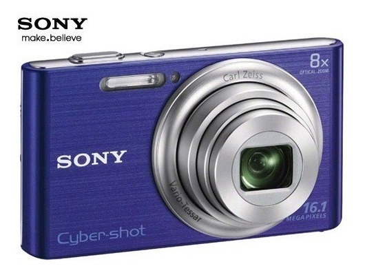 Câmera Sony Cyber-shot Roxa W730 - Câmera Sansumg S630