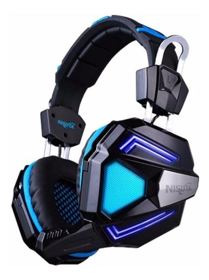 Auriculares Gamer Pc Ps4 Usb 7.1 Nisuta Microfono Vibracion