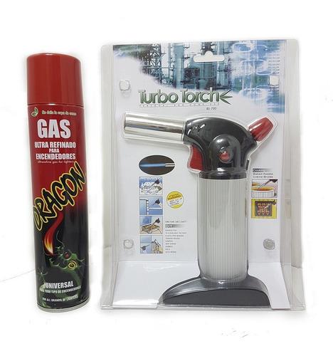 Soplete Cocina Portatil Torch Flameador Recarga + Gas Butano