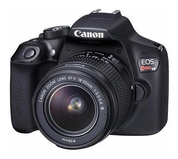 Câmera Canon Eos Rebel T6 Kit 18-55mm + Cartão Memória