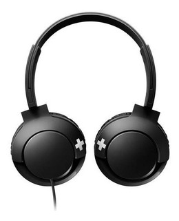 Auriculares Vincha Over-ear Philips Bass + I Negro