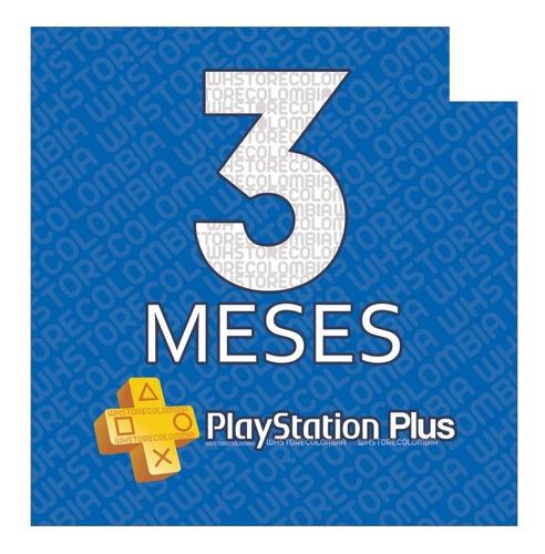 Imagen 1 de 3 de Playstation Psn Plus 3 Meses 98 Días Ps4-ps3 + Juegos