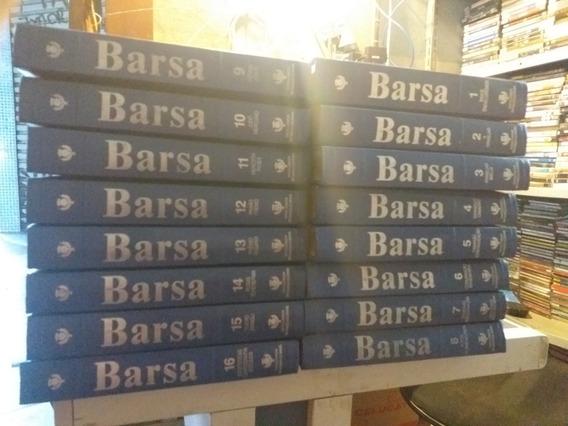 Enciclopédia Barsa - 16 Volumes - Capa De Couro Azul