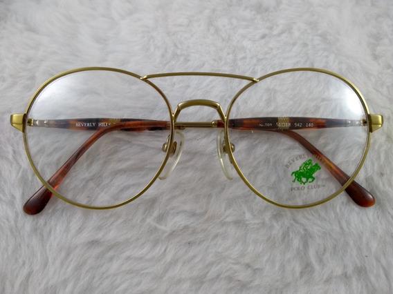 Óculos Sol, Vintage, Retrô, Metal, Redondo, Polo Club 524r
