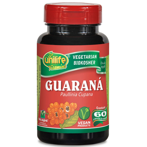 Guarana 60 Capsulas 500 Mg Unilife