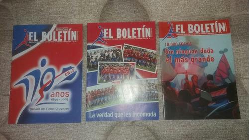 Lote De 3 Boletines Del Club Nacional De Football