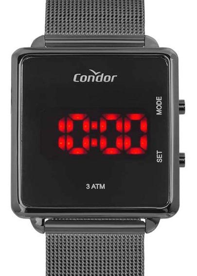 Relógio Condor Feminino Digital Led Preto Cojhs31bac/4c + Nf