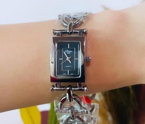 Relógio Condor Prateado Pequeno