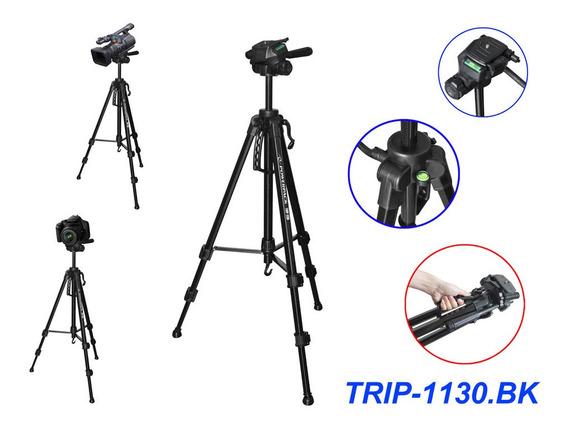 Tripé Profissional Câmeras E Filmadoras Até 1,75m Powerpack