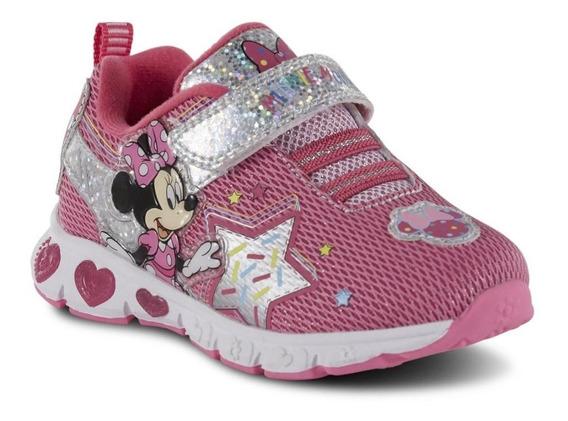Zapatos Americanos Niñas Minnie Mouse Disney Con Luces