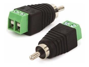Conector Adaptador Borne X Plug Rca Macho - 2 Peças