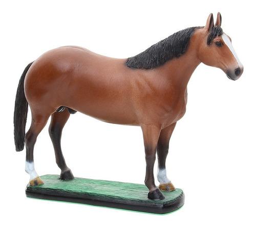 Escultura Em Resina Cavalo Quarto De Milha Alazão Home Weste