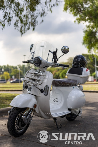 Moto Eléctrica Sunra Vintage Litio,  12 O 18 Cuotas   / D
