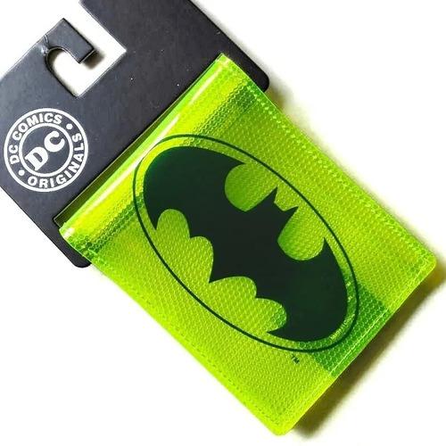 Imagen 1 de 4 de Cartera Batman Neon Billetera Dc Comics Superheroes