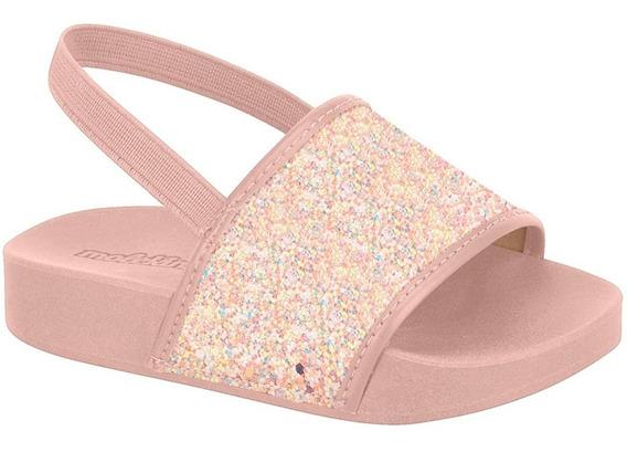 Sandália Infantil Molekinha Glitter -slide Tal Mãe Tal Filha