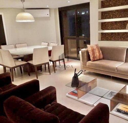 Apartamento Em Condomínio Cobertura Para Venda No Tatuapé, 3 Dorm, 2 Suíte, 4 Vagas, 185 M - 1712
