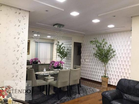 Apartamento 122 M² - 3 Dormitórios - 1 Suíte - Centro - Diadema/sp - Ap1104