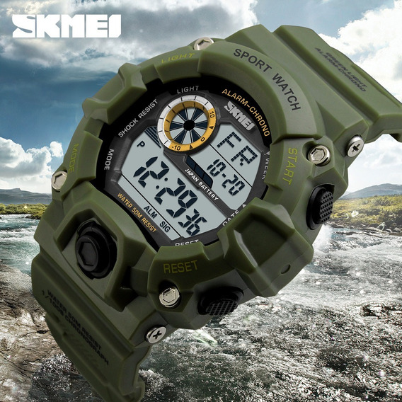 Relógio Masculino S-shock Skmei 1019 Digital Preto Militar