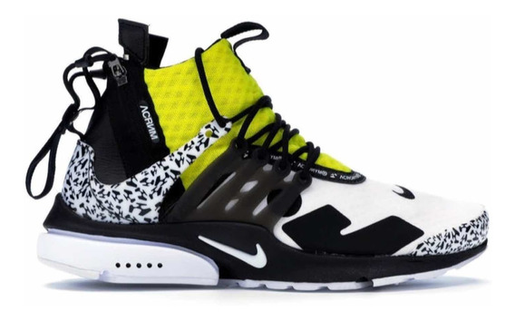 Nike Presto Mid Acronym Withe Black Dynamic Yellow