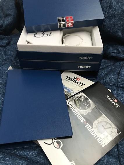 Caixa Estojo Relógio Tissot Pr256 Completa Com Livros Nova
