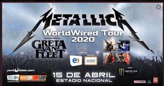 Entradas Metallica Cancha