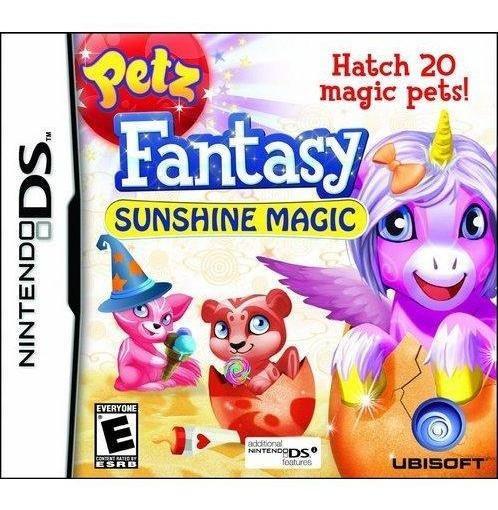 Petz Fantasy Sunshine Magic Nds Mídia Física Novo Lacrado