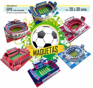 Adorno Torta Maqueta Estadio Futbol Personalizado
