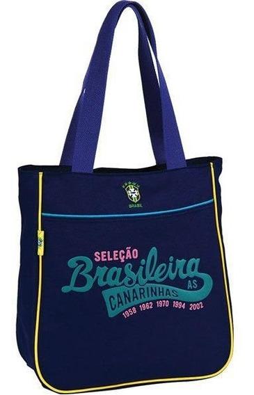 Bolsa Shopping Bag/tote Selecao Canarinho Md 1bolso