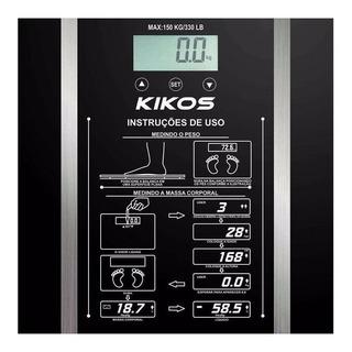 Balança corporal digital Kikos Ison preta