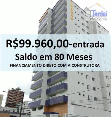 Apartamento Em Praia Grande, 02 Dormi. 01 Suite, Sacada Gourmet Na Aviação Ap0655 - Ap0655