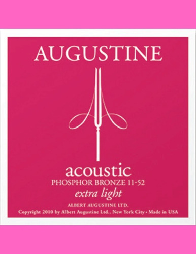 Set De Cuerdas De Metal Augustine Acoustic Extra Light