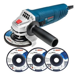 Esmerilhadeira Angular 850w 115mm Gws 850 Bosch + 3 Discos