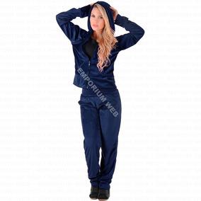 Conjunto Adulto Feminino Plush Veludo Calça + Blusa Inverno