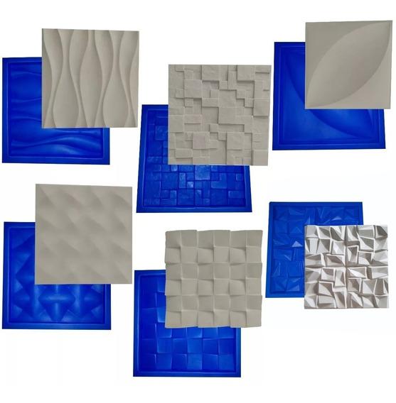 6 Formas De Plástico Borracha P/ Placa Gesso 3d Frete Grátis