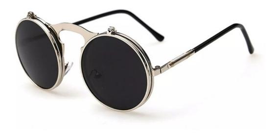 Óculos Redondo Circular Dupla Lente