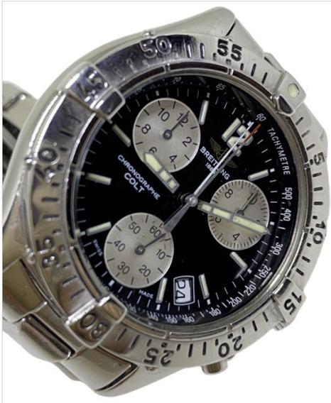 Relógio Breitling Chrono Colt Dial Preto A53035 38mm