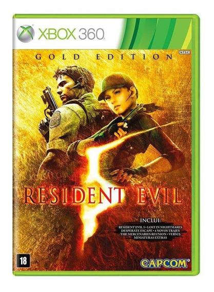Resident Evil 5 Gold Edition Xbox 360 Mídia Física Lacrado