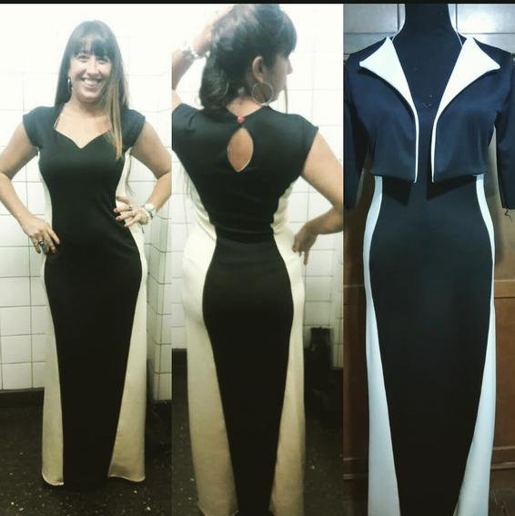 a445a859f645 Traje Empresarial Mujer Vestido Y Chaqueta Negro Y Cuadricu - Ropa y ...