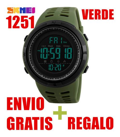 Reloj Skmei 1251 Hombre Deportivo Digital Verde Skmei 1251