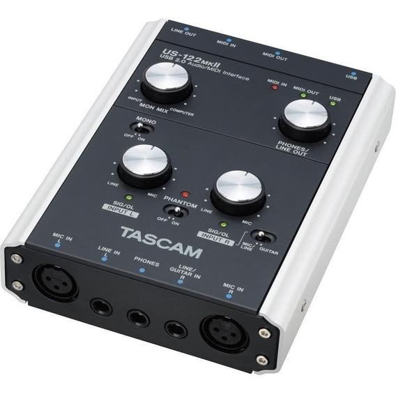 Placa Interface De Audio Tascam Us-122 Mkii Usb Usada