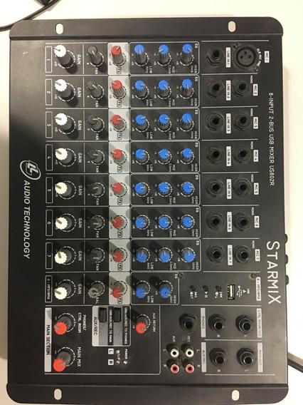 Mesa De Som Starmix 8 Input 2-bus Usb Mixer Usb02r