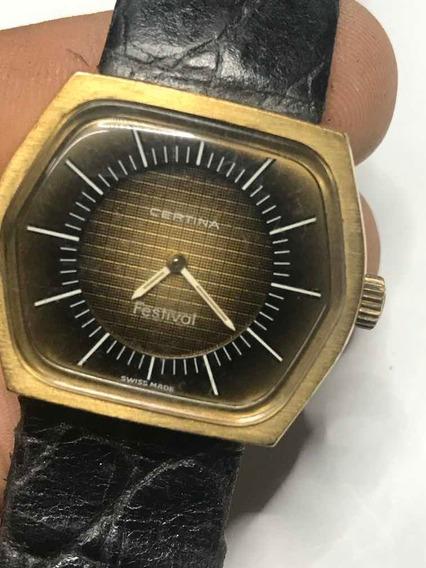 Relógio Certina Vintage - Couro Crocodilo - Frete Gratis