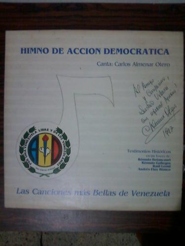 Himno De Accion Democratica Disco De Vinil