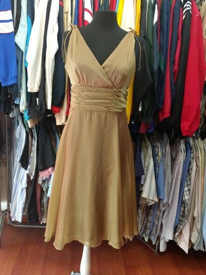 Vestido Importafo Elegante Fiesta Dorado Talle 10