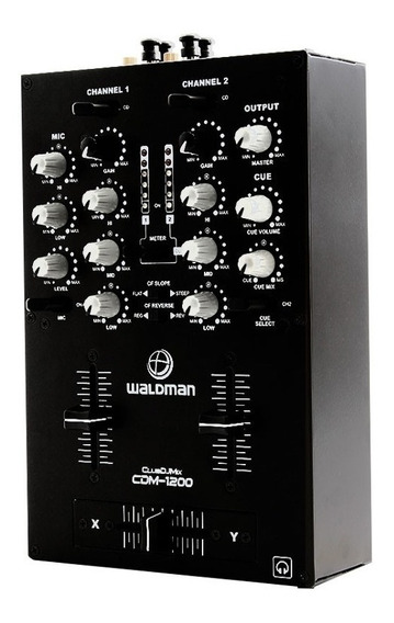 Dj Mixer Profissional Faderstart 2 Canais Waldman Cdm1200