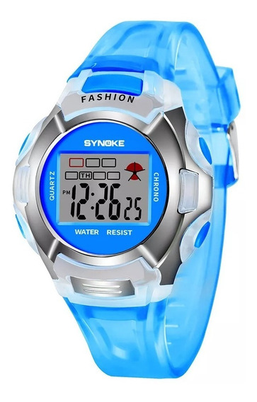 Relógio Infantil Digital Alarme Cronometro Luz Data Adulto