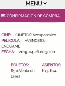 Boletos Para Avengers Endgame. Estreno
