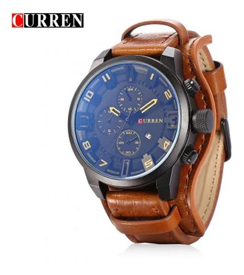 Relógio Curren 8225 Yellow Sport, Aço Inoxidável Masculino